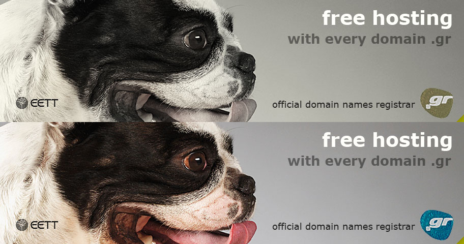 Free hosting with every domain .gr